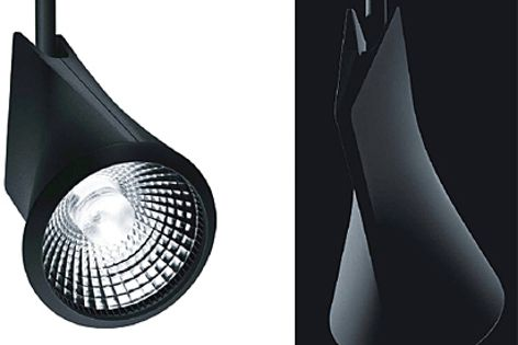 The front and back view of the IYON spotlight.