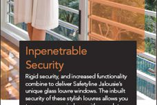 Glass louvres by Safetyline Jalousie