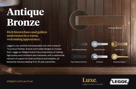 Luxe Antique Bronze finish by Allegion