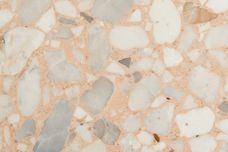 Coral terrazzo tiles from Fibonacci Stone