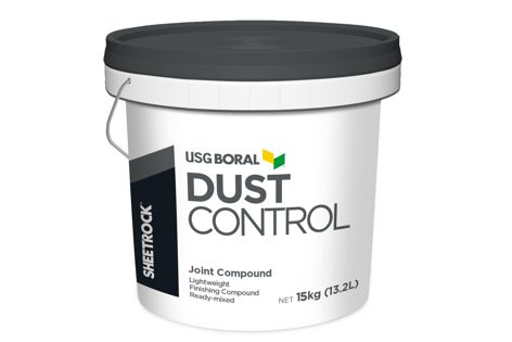 USG Boral's Sheetrock Dust Control can reduce the volume of respirable airborne dust created on building sites.