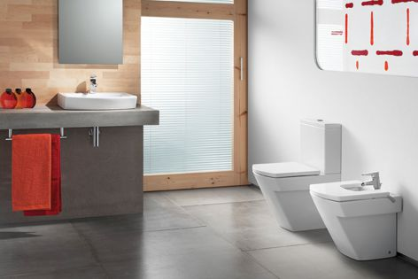 Roca's Hall collection is a minimalist solution for small spaces.