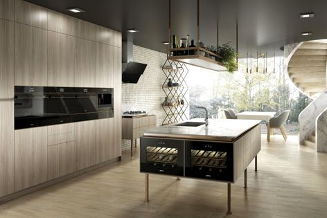 Smeg's Dolce Stil Novo appliances fit together seamlessly.