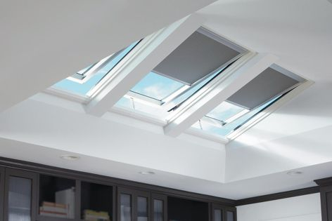 Velux's Solar Powered Skylights come with sophisticated touch-screen remotes and can be operated by timer functions.