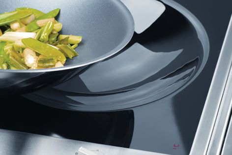 The CombiSet induction wok by Miele transfers heat directly to stir-fries and Asian foods.