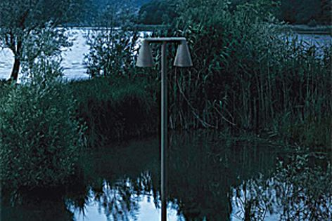 The Belvedere lights were designed to site comfortable in landscape settings.