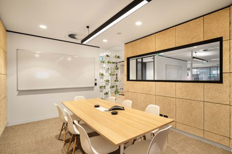 The Eventbrite head office in Melbourne by Cradle Design features Troldtekt wood wool panels.