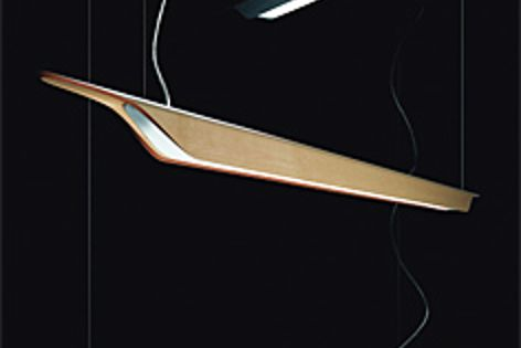 The Troag light is made of multilayered, heatcurved wood.
