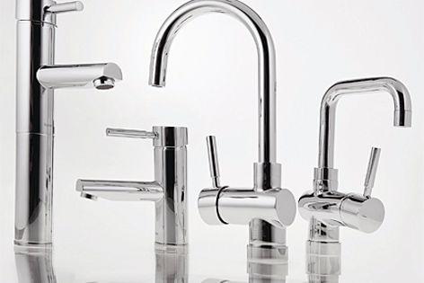 Five-star WELS rating for the Torino basin pillar mixer.