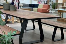 Stirrup outdoor table from Koskela