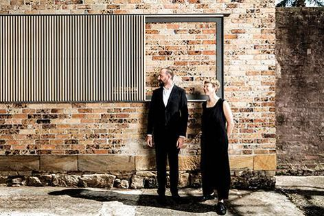Anita Panov and Andrew Scott are the guest curators of The Architecture Symposium. Photograph: Brett Boardman.