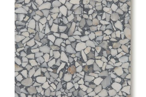 Fibonacci Stone's Storm terrazzo is a low-maintenance, hard-wearing and long-lasting flooring and walling solution.