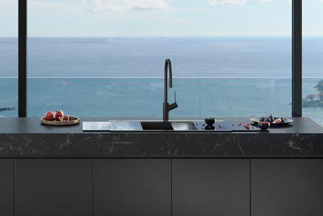 Sleek, modern Santorini concealed sink