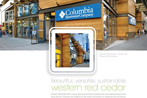 Beautiful, versatile, sustainable red cedar