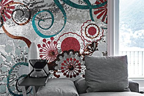 Sicis's Orientale collection is hand made by artisans in Ravenna, Italy.
