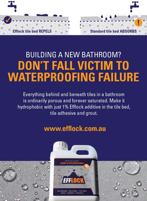 Damp and efflorescence protection by Efflock