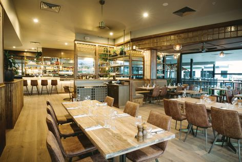 Havwoods' Valour engineered boards in Barbosa European Oak were used for the Beef and Beach Restaurant, Byron Bay.