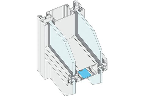 Ideal for high acoustic performance, the Elevate Series 646 aluminium framing system has high water resistance.