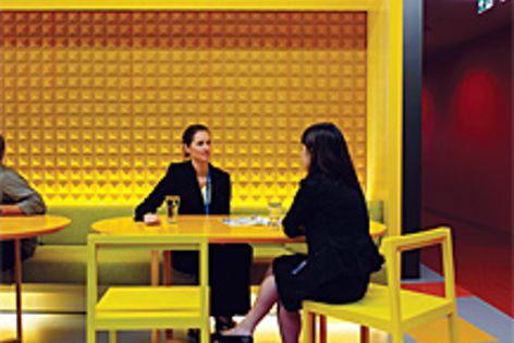 Signature Floorcoverings' Flexo rubber flooring can be matched to most Pantone colours.