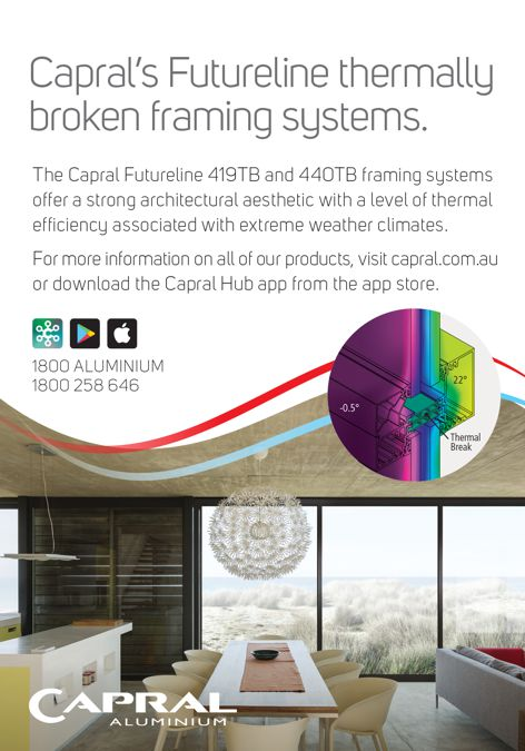 Futureline windows by Capral
