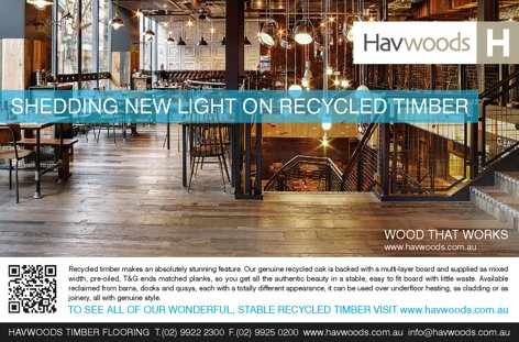 Recycled timber from Havwoods