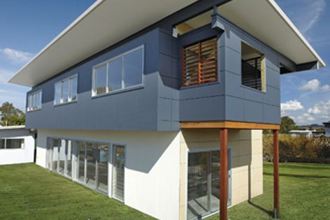 This home in Byron Bay is clad with EasyLap panels, easily installed by a carpenter and painter.