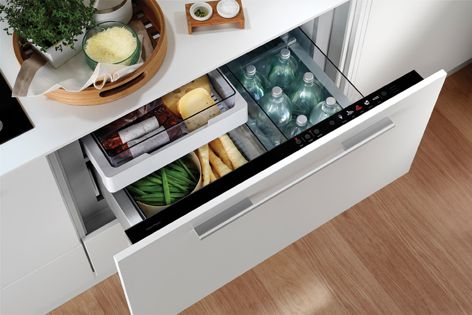 The Izona CoolDrawer gives designers the freedom to locate refrigeration throughout the kitchen a