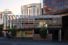 Architectural wire mesh at Hotel Ibis