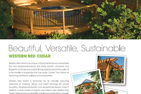 Beautiful, versatile western red cedar