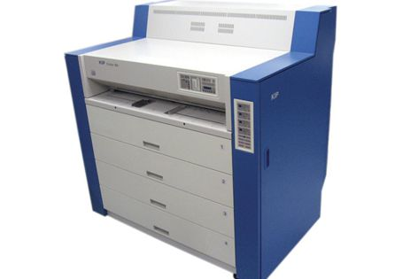 The KIP Colour 80 uses LED monochrome and CMYK full-colour plotting technology.