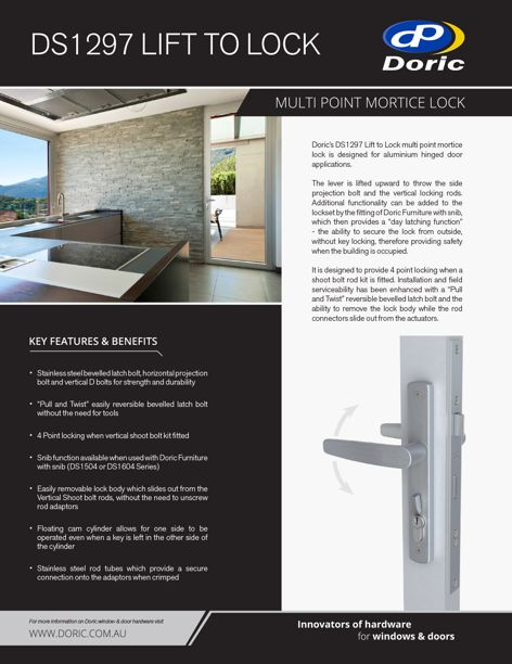 DS1297 Lift to Lock by Doric