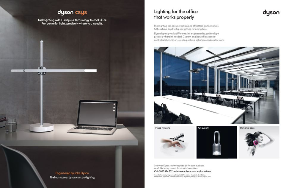 Office lighting by Dyson