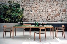 Teka outdoor dining collection by Roda