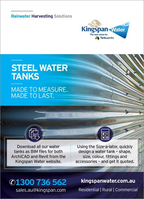 Steel water tanks by Kingspan Water
