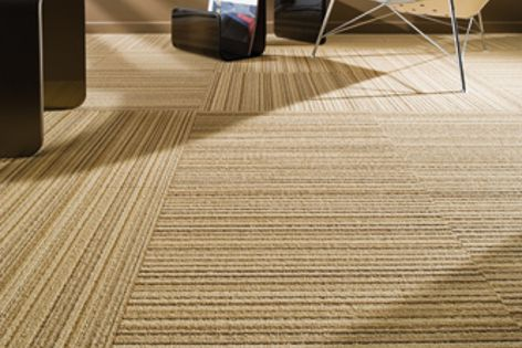 The Impulse EC Modular carpet tile range is made from 90% post-consumer recycled content.