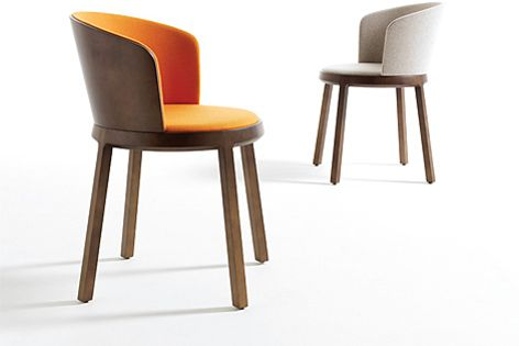 The Aro collection includes a side chair, lounge chair, bar stool and side tables.