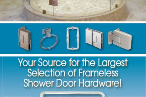 CRL frameless shower door hardware