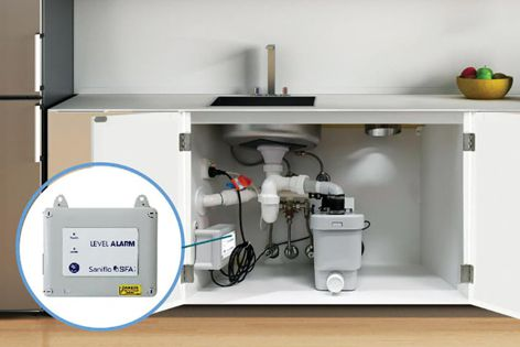 Sanialarm Interlock is a complete alarm interlock package for commercial applications that safeguards against flooding.