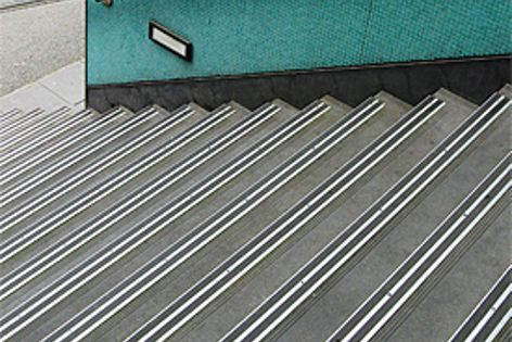 Slip-resistant Tredfx stair tread nosings are suitable for new and retrofitting applications.