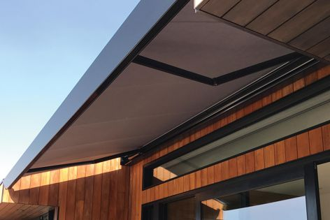 Warema's Terrea K70 cassette awnings have a compact, modern look.