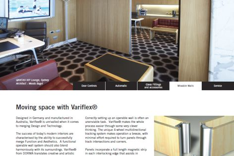 Variflex movable walls