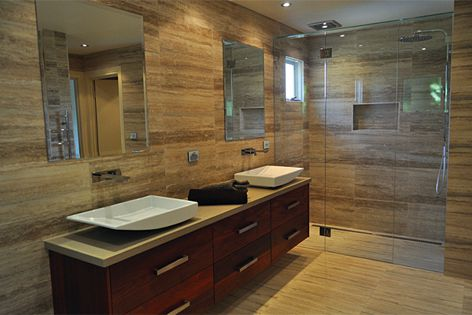 """This bathroom from Cottles Bridge, Victoria was one of the winners of the """"people's choice"""" award."""