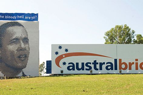 Austral's tribute to President Obama at the Horsley Park display centre, NSW.