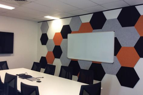Part of the Ambience range, Stick It is a combination of decorative acoustics and functional pinboard.