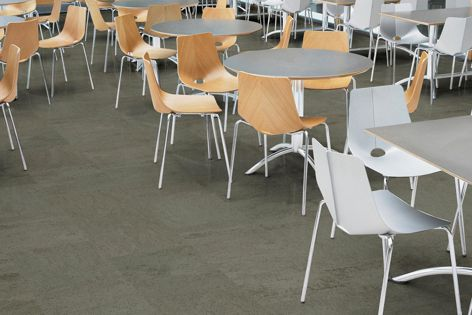 With an indentation resistance of more than 1500 psi, Teles rubber flooring is ideal for high-traffic areas.