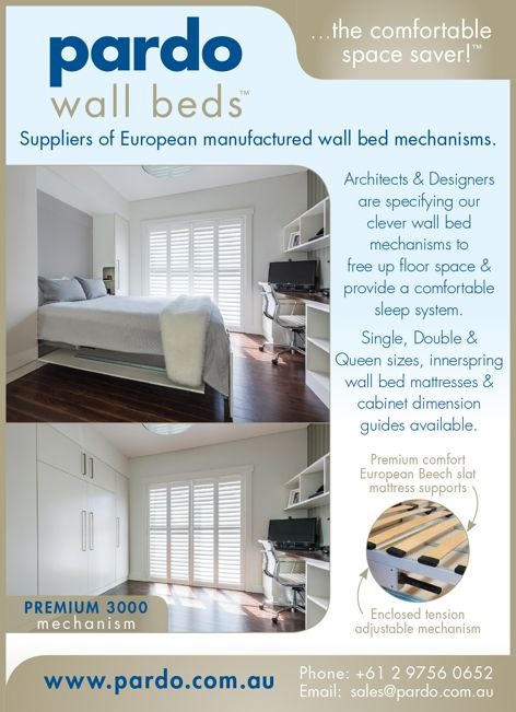 Wall bed mechanisms by Pardo