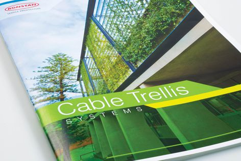 Find ideas for vertical gardens in the Cable Trellis Systems catalogue.
