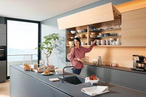 Create a mesmerizing experience by incorporating Blum's motion technologies so your designs both look and feel sophisticated.