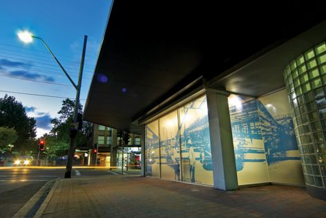 HPWF digitally printed film has been used on a busy North Sydney street corner.