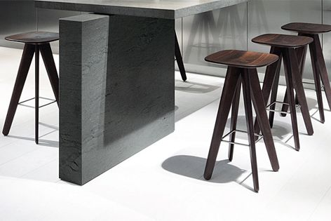 Designed by Rodrigo Torres, the Ics and Ipsilon stools are available in a choice of 32 colours.